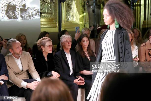 Alasdhair Willis, Natalia Vodianova, Paul McCartney and his wife Nancy Shevell attend the Stella McCartney Womenswear Spring/Summer 2020 show as part...