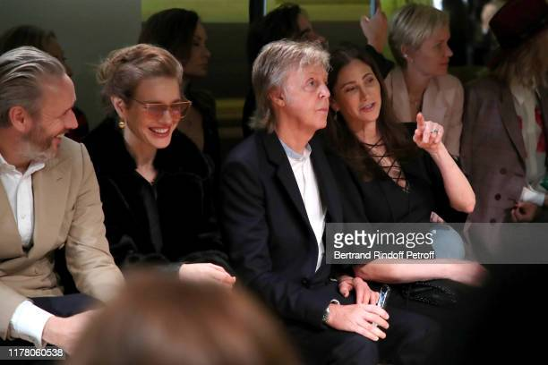 Alasdhair Willis Natalia Vodianova Paul McCartney and his wife Nancy Shevell attend the Stella McCartney Womenswear Spring/Summer 2020 show as part...