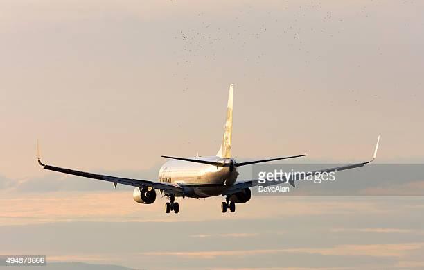 Alaska Airlines 737 landing.