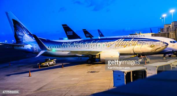 Alaska Airlines Flying Salmon
