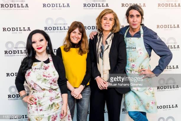 Alaska Almudena Martorell Maria Carceller and Mario Vaquerizo attend Rodilla 80th anniversary presentation on February 05 2019 in Madrid Spain