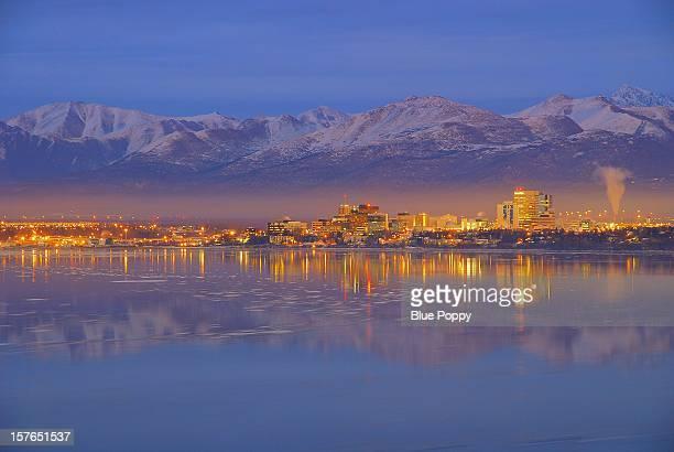 Alaska Anchorage Under Golden Light