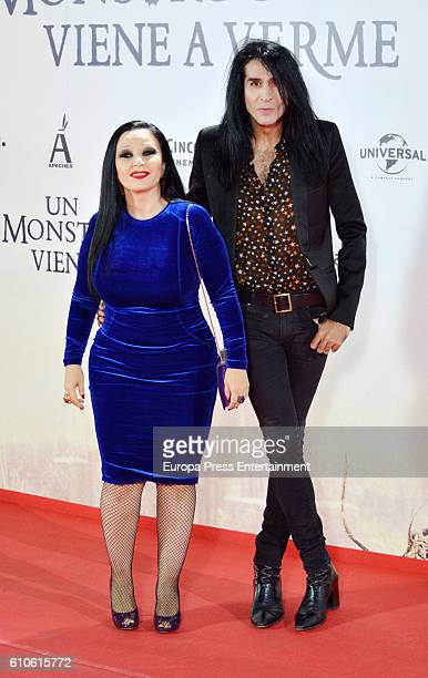 Alaska and Mario Vaquerizo attend 'A Monster Calls ' premiere at Royal Theatre on September 26 2016 in Madrid Spain