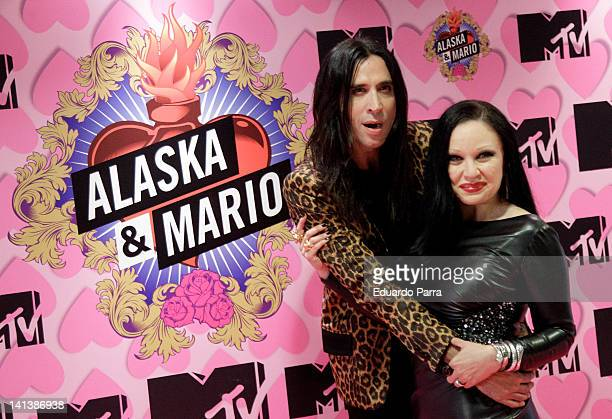 Alaska and Mario Vaquerizo attend 'Alaska y Mario' new season photocall at Emperator hotel on March 15 2012 in Madrid Spain