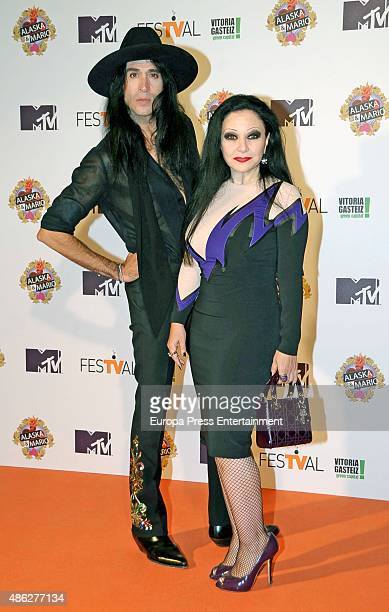 Alaska and Mario Vaquerizo attend 'Alaska y Mario' Tv show new season premiere during FesTVal 2015 on September 2 2015 in VitoriaGasteiz Spain