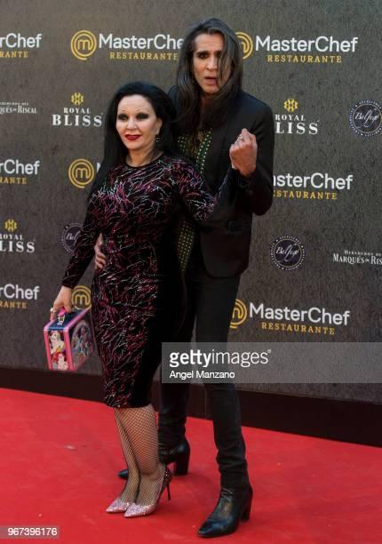 Alaska and Mario Vaquerizo attend 'Masterchef' Restaurant Opening on June 4 2018 in Madrid Spain