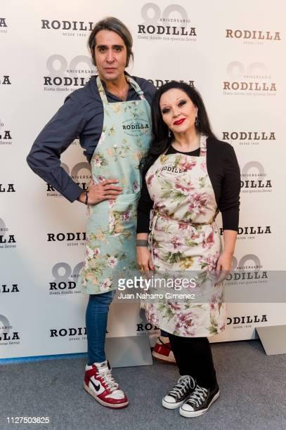 Alaska and Mario Vaquerizo attend Rodilla 80th anniversary presentation on February 05 2019 in Madrid Spain