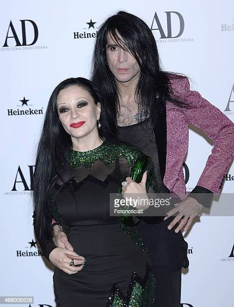 Alaska and Mario Vaquerizo attend the AD Architectural Digest 2015 Awards at The Ritz Hotel on March 12 2015 in Madrid Spain