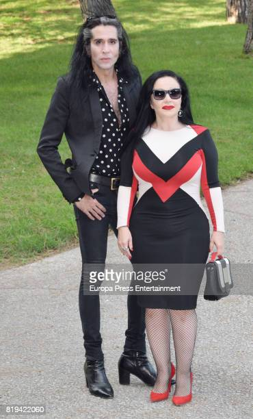 Alaska and Mario Vaquerizo attend the delivery ceremony to National Fashion Award to David Delfin who died last 3th June on July 19 2017 in Madrid...