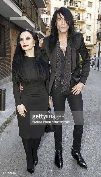 Alaska and Mario Vaquerizo attend the memorial service for Elena Benarroch's mother Clara Isabel de Benarroch on June 17 2015 in Madrid Spain