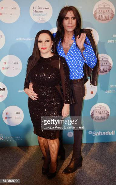 Alaska and Mario Vaquerizo attend the Pet Shop Boys Universal Music Festival concert at The Royal Theatre on July 10 2017 in Madrid Spain
