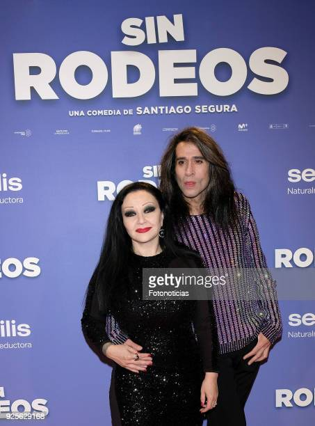 Alaska and Mario Vaquerizo attend the 'Sin Rodeos' premiere at Capitol cinema on February 28 2018 in Madrid Spain