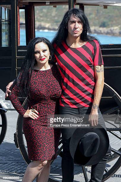 Alaska and Mario Vaquerizo attends 'Hotel Transylvania' photocall during 63rd San sebastian Film Festival at Kursaal on September 25 2015 in San...