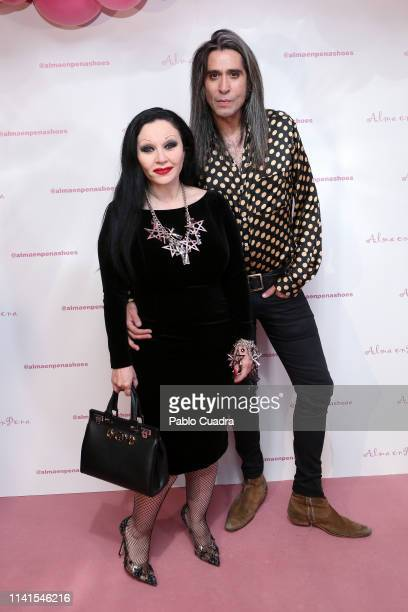 Alaska and Mario Vaquerizo attends the concert of Nancys Rubias at Barcelo Theater on April 09 2019 in Madrid Spain