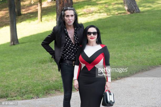 Alaska and Mario Vaquerizo attends the tribute to David Delfín in the Museum of the Costume of Madrid July 19 2017