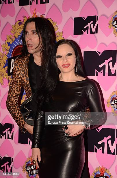 Alaska and Mario Vaquerizo present 'Alaska y Mario' MTV reality show on March 15 2012 in Madrid Spain