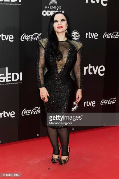 Alaska attends Odeon Awards 2020 at Royal Theater on January 20 2020 in Madrid Spain