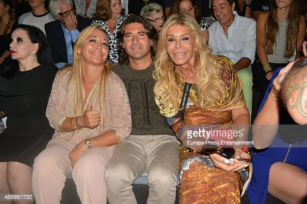 Alaska Belen Esteban Tono Sanchis and Bibiana Fernandez attend Mercedes Benz Fashion Week Madrid at Ifema on September 14 2014 in Madrid Spain