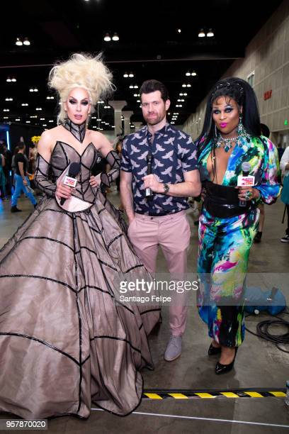 Alaska Billy Eichner and Peppermint attend the 4th Annual RuPaul's DragCon at Los Angeles Convention Center on May 12 2018 in Los Angeles California