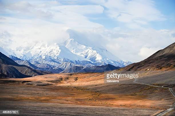 États-Unis, Alaska, Denali National Park, le mont McKinley s Pic enneigé
