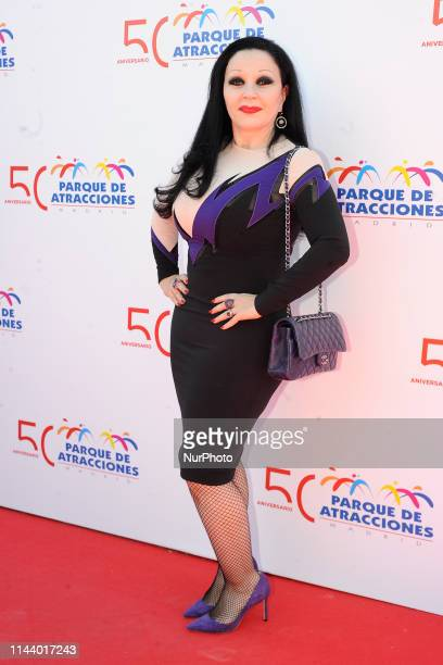Alaska during 50th anniversary of Parque de Atracciones in Madrid on Wednesday 15 May 2019 spain