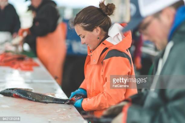 Alaska vis schoonmaken