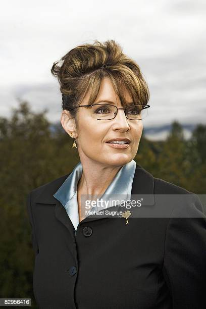 Alaska governor and Republican party vice presidential candidate Sarah Palin is photographed for Fortune Magazine on September 21 2007