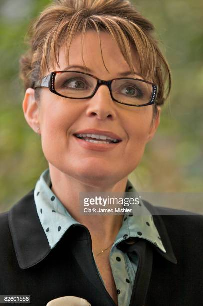 Alaska Governor Sarah Palin during a Technology Conference in this October 2007 photo in Anchorage Alaska Republican presidential nominee John McCain...