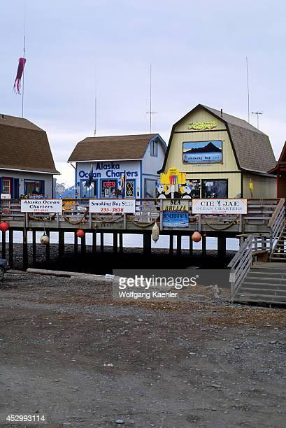 USA Alaska Homer Homer Spit Houses On Stilts
