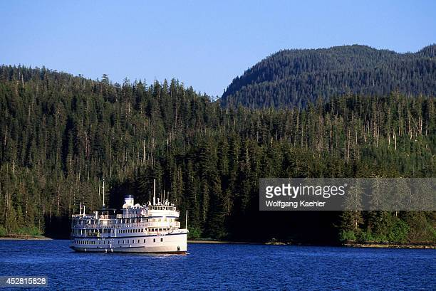 USA Alaska Inside Passage Neva Strait Near Sitka Cruise Ship Spirit Of 98