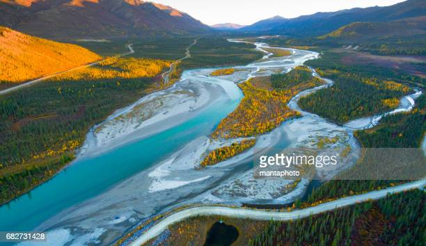 alaska landscape - arctic stock pictures, royalty-free photos & images