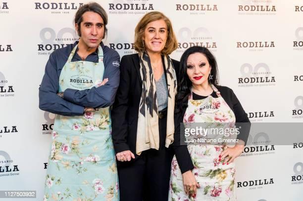 Alaska Maria Carceller and Mario Vaquerizo attend Rodilla 80th anniversary presentation on February 05 2019 in Madrid Spain