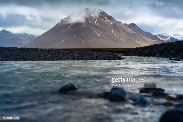 alaska mountain - アラスカ文化 ストックフォトと画像