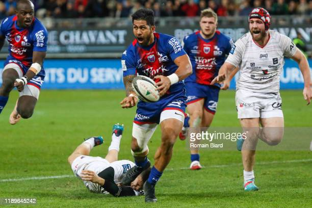 Alaska NIKOLASI TAUFA of Grenoble during the Pro D2 match between Grenoble and Oyonnax at Stade des Alpes on December 19, 2019 in Grenoble, France.