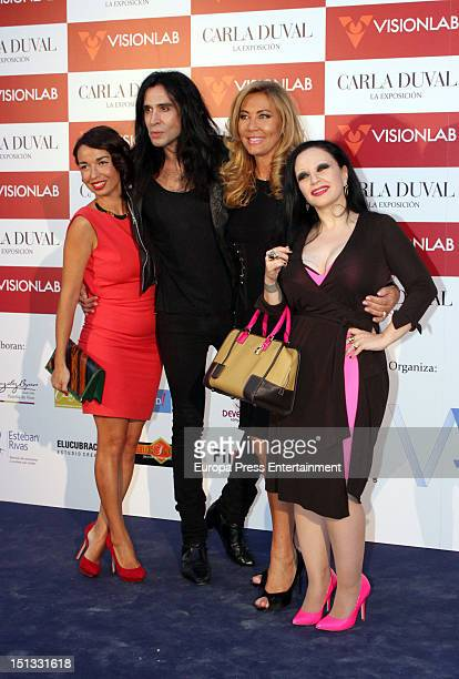Alaska Norma Duval and Mario Vaquerizo attend the painting exhibition of Carla Duval at Casa de Vacas on September 5 2012 in Madrid Spain