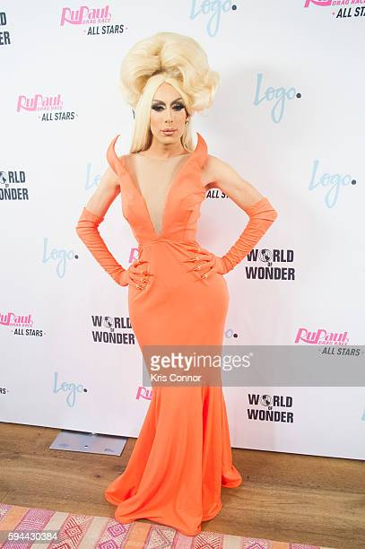 Alaska poses for a photo during the RuPaul's Drag Race All Stars season two premiere at the Crosby Street Hotel on August 23 2016 in New York City