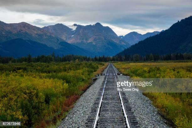 Alaska Railway Track in Kenai Peninsula