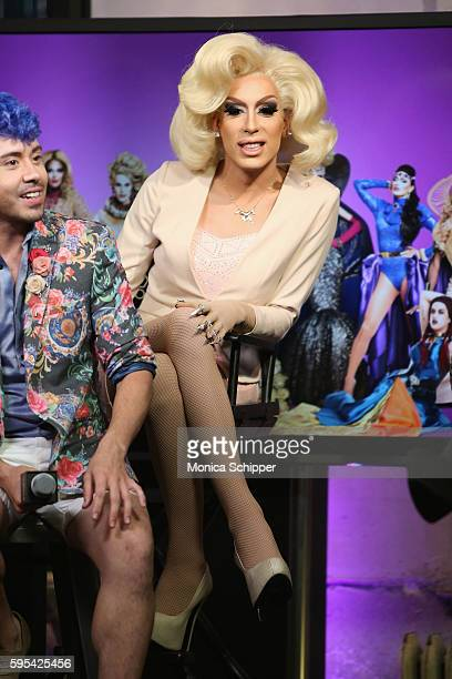 Alaska speaks at AOL Build Presents The Cast Of 'RuPaul's Drag Race All Stars' at AOL HQ on August 25 2016 in New York City