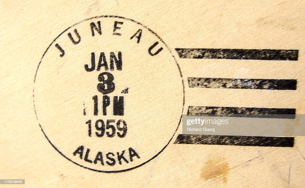 Alaska statehood postmark : Stock Photo