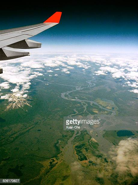alaska taiga window view - xuan che stock pictures, royalty-free photos & images