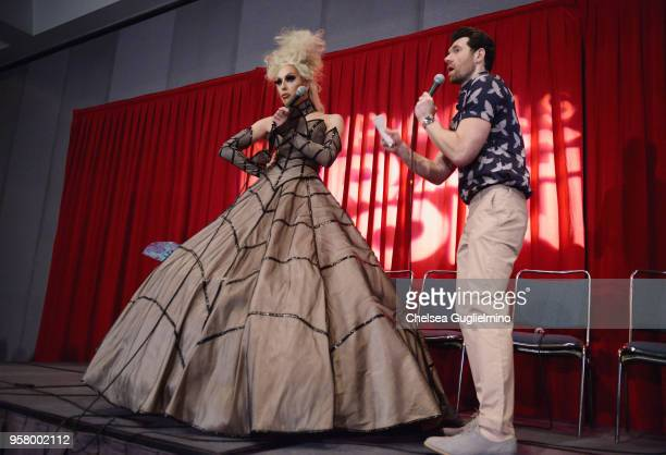 Alaska Thunderfuck and Billy Eichner speak at 4th annual RuPaul's DragCon at Los Angeles Convention Center on May 12 2018 in Los Angeles California
