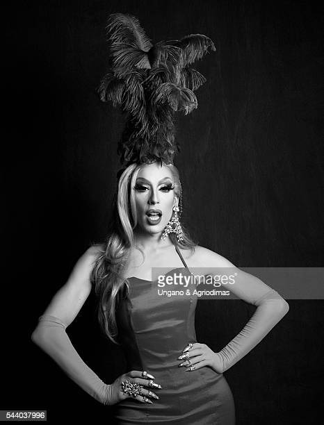 Alaska Thunderfuck poses for a portrait at Logo's 'Trailblazer Honors' on June 23 in the Cathedral of St John the Divine in New York City