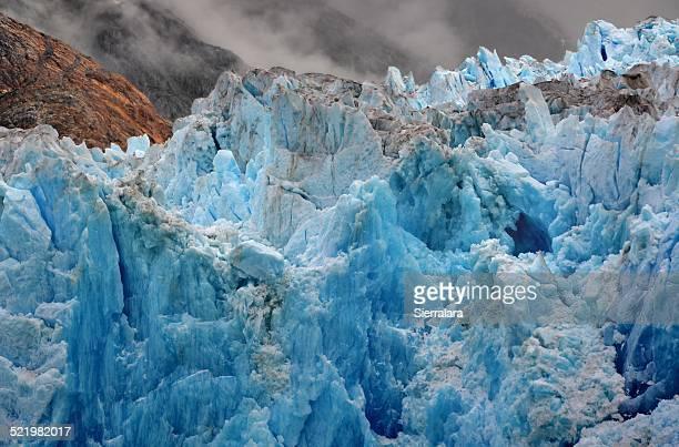USA, Alaska, Tongass National Forest near Juneau, Blue ice of South Sawyer Glacier