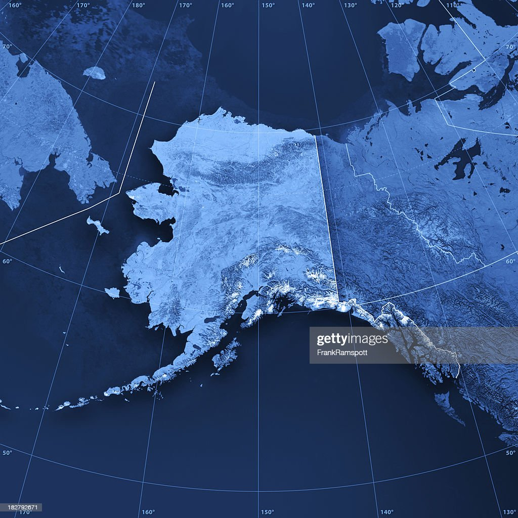Alaska Topographic Map : Stock Photo