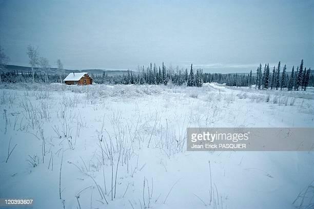 Alaskan landscapes in United States - Somewhere in central Alaska tundra.
