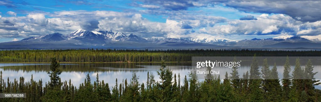 Alaskan Mountain Range : Stock Photo