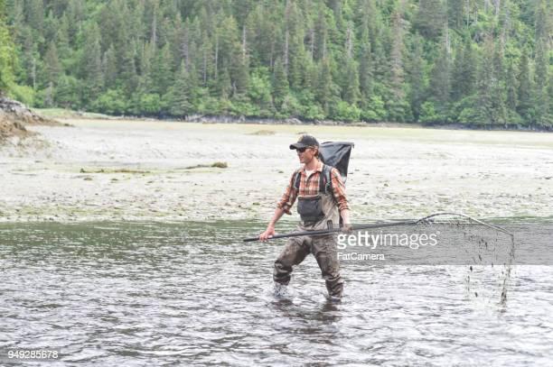 alaskan net fishing! - kachemak bay stock pictures, royalty-free photos & images