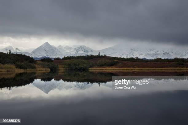 Alaskan Range Reflection in Dramatic Weather