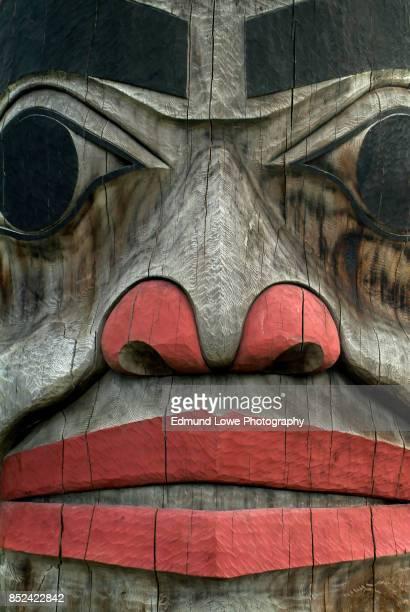 Alaskan Totem Pole Closeup