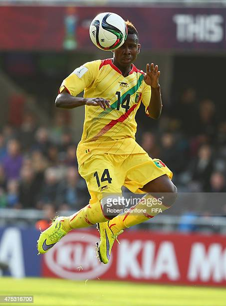 Alassane Diallo of Mali heads the ball during the FIFA U20 World Cup New Zealand 2015 Group D match between Mexico and Mali at Otago Stadium on May...